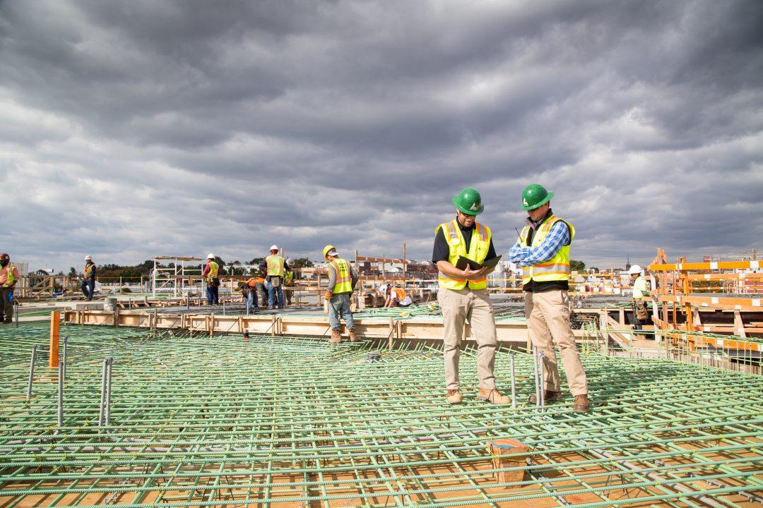 Bozzuto Construction onsite