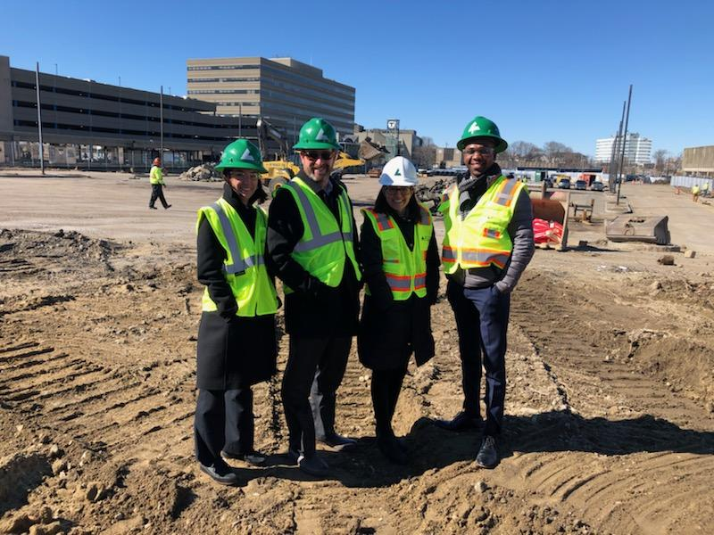 Bozzuto employees at North Quincy Groundbreaking