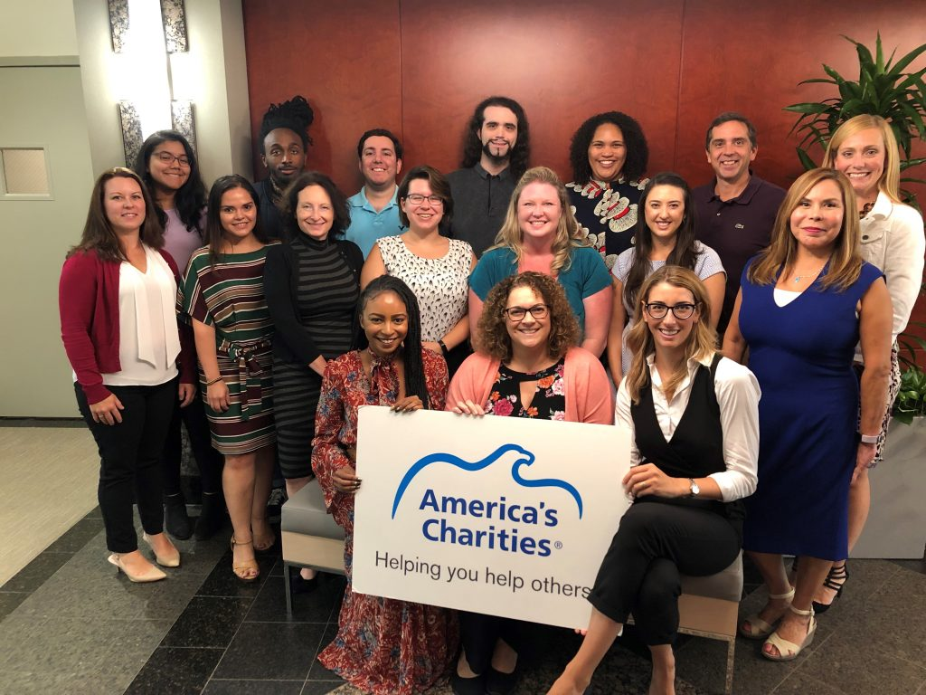 Bozzuto's CSR team with the America's Charities team