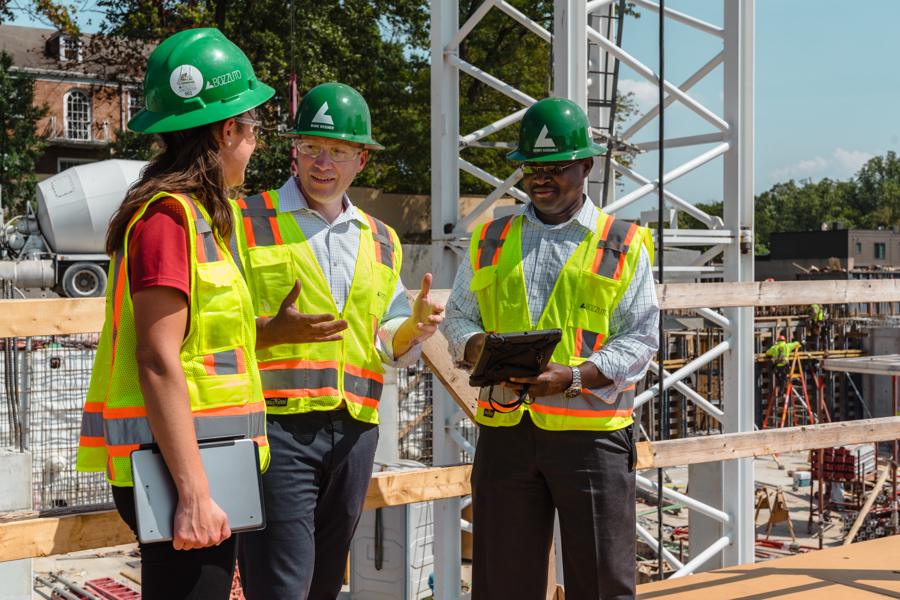 Bozzuto Construction Employees onsite