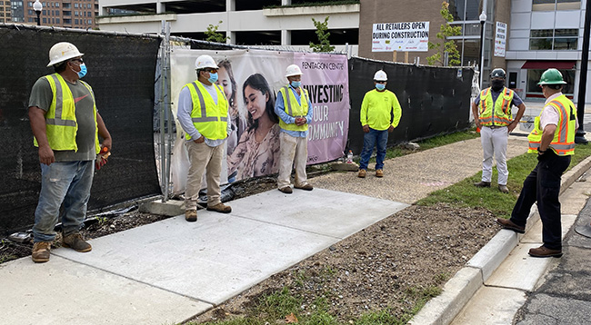 Team Members outside a jobsite